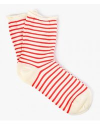 Hansel From Basel | Red Nautical Stripe Crew Sock | Lyst