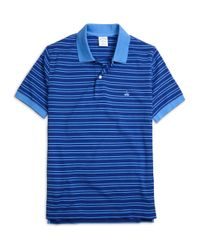 Brooks Brothers | Blue Slim Fit Thin Double Stripe Polo Shirt for Men | Lyst
