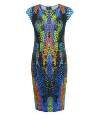 McQ - Multicolor Multicolour Crocodile Print Dress - Lyst