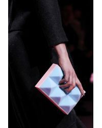 Mary Katrantzou | Blue Foam Box Clutch | Lyst