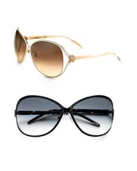 Roberto Cavalli - Brown Oversized Round Sunglasses - Lyst