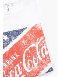 Mango | White Printed Cotton T-shirt | Lyst