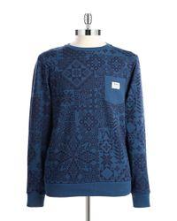 Wesc | Blue Fairisle Crewneck Sweatshirt | Lyst