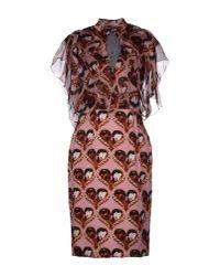Marco Bologna | Purple Printed Stretch-Satin Mini Dress  | Lyst