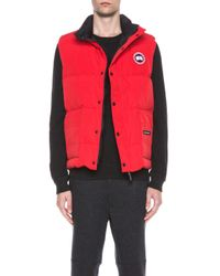Canada Goose - Red Freestyle Polyblend Vest - Lyst