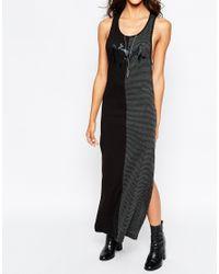 Aka | Black Ka Drop Arm Sleeveless Jersey Dress | Lyst