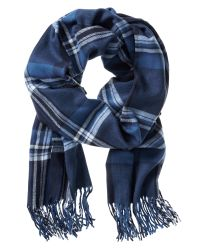 Banana Republic | Blue Plaid Woven Scarf for Men | Lyst