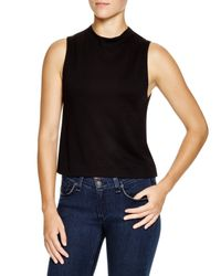 Rag & Bone | Black Charley Mock Neck Top | Lyst