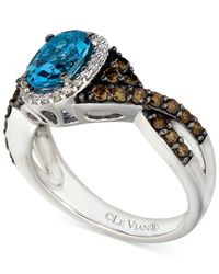 Le Vian | ® Blue Topaz (1 Ct. T.w.) And Diamond (5/8 Ct. T.w.) Ring In 14k White Gold | Lyst