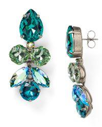 Sorrelli | Blue Golden Shadow Drop Earrings | Lyst