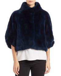 Diane von Furstenberg | Blue Rabbit Fur Chubby | Lyst