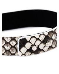Aech Cheli | White Python Skin Bracelet | Lyst