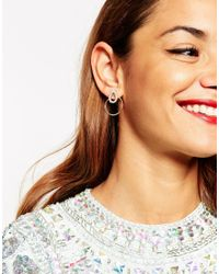 ASOS - Metallic Occasion Open Loop Swing Earrings - Lyst