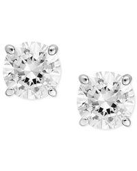Macy's | Diamond Stud Earrings In 14k White Gold Or 14k Yellow Gold (1/2 Ct. T.w.) | Lyst