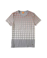 BOSS Orange | Gray 'trucker' | Cotton Slub Henley Shirt for Men | Lyst