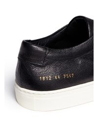 Common Projects - Black 'original Achilles' Nubuck Leather Sneakers for Men - Lyst