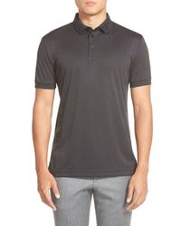 J.Lindeberg | Black 'kv Tx' Performance Jersey Polo for Men | Lyst