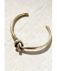 Urban Outfitters - Metallic Knot Cuff Bracelet - Lyst