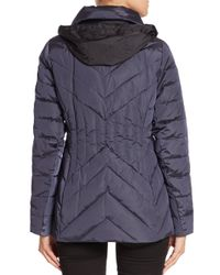 Creenstone - Blue Chevron-quilted Jacket - Lyst