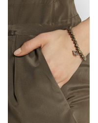 Chan Luu | Metallic Pyrite, Silver And Diamond Bracelet | Lyst