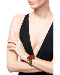 Oscar de la Renta   Red Carnation Cuff Bracelet   Lyst