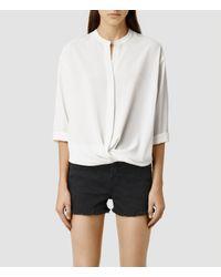 AllSaints | White Waikata Ly Shirt | Lyst