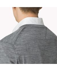 Tommy Hilfiger | Gray Wool V-neck Cardigan for Men | Lyst
