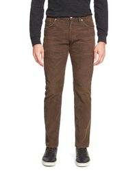 Citizens of Humanity | Brown 'holden' Straight Leg Corduroy Pants for Men | Lyst