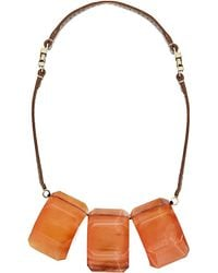 Marni | Red Resin And Leather Necklace - For Women | Lyst