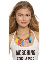 Moschino - Multicolor Necklace - Multi - Lyst