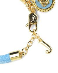 Juicy Couture | Blue Status Coin Bracelet | Lyst