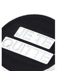 Saint Laurent | Black 'eighties' Pin | Lyst