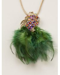 Gabriele Frantzen | Green Feathered Fish Necklace | Lyst
