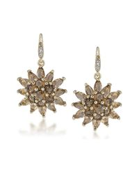 Carolee | Brown Desert Oasis Goldtone Encrusted Earrings | Lyst