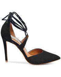 Steve Madden | Black Women's Raela Ankle-wrap Pumps | Lyst