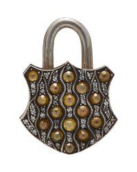 Sevan Biçakci | Metallic Gemstone Padlock Charm | Lyst