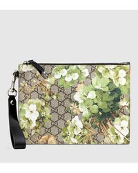 b6bc8dd9f47588 Gucci Gg Blooms Pouch With Strap in Green for Men - Lyst
