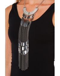 AKIRA - Gray Weekend Warrior Necklace Set - Rhodium - Lyst