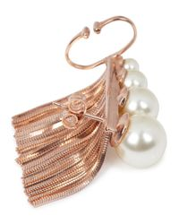 Ca&Lou - Pink Inez Fringed Rose Gold-plated Earrings - Lyst