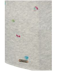 BOSS Orange - Gray Printed T-shirt In A Cotton Blend With Modal: 'tasensation' - Lyst