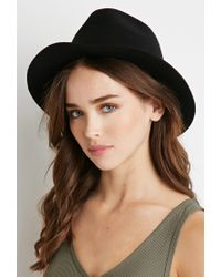 Forever 21 | Black Raw-cut Brim Fedora You've Been Added To The Waitlist | Lyst