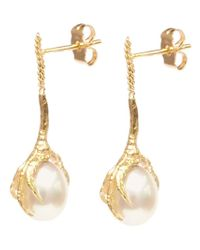 Wouters & Hendrix - Metallic 'crow's Claws' Pearl Earrings - Lyst