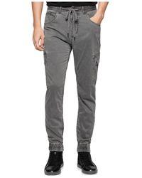 Calvin Klein Jeans | Gray Sateen Jogger Pants for Men | Lyst