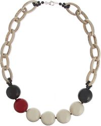 Armani - Red Bauble Bead Necklace - Lyst