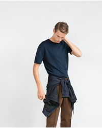 Zara | Blue Viscose Sweater for Men | Lyst