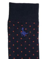 Jack Wills | Blue Polka Dot Print Socks for Men | Lyst