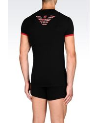 Emporio Armani | Black Undershirt for Men | Lyst