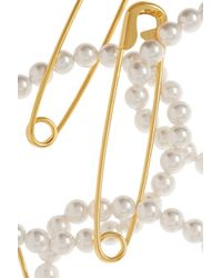 Tom Binns - Metallic Pearls in Peril Gold-plated Pearl Necklace - Lyst