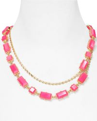 kate spade new york | Pink Hot Chip Long Necklace 40 | Lyst