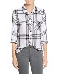 Rails - Gray Hunter Plaid Shirt - Lyst